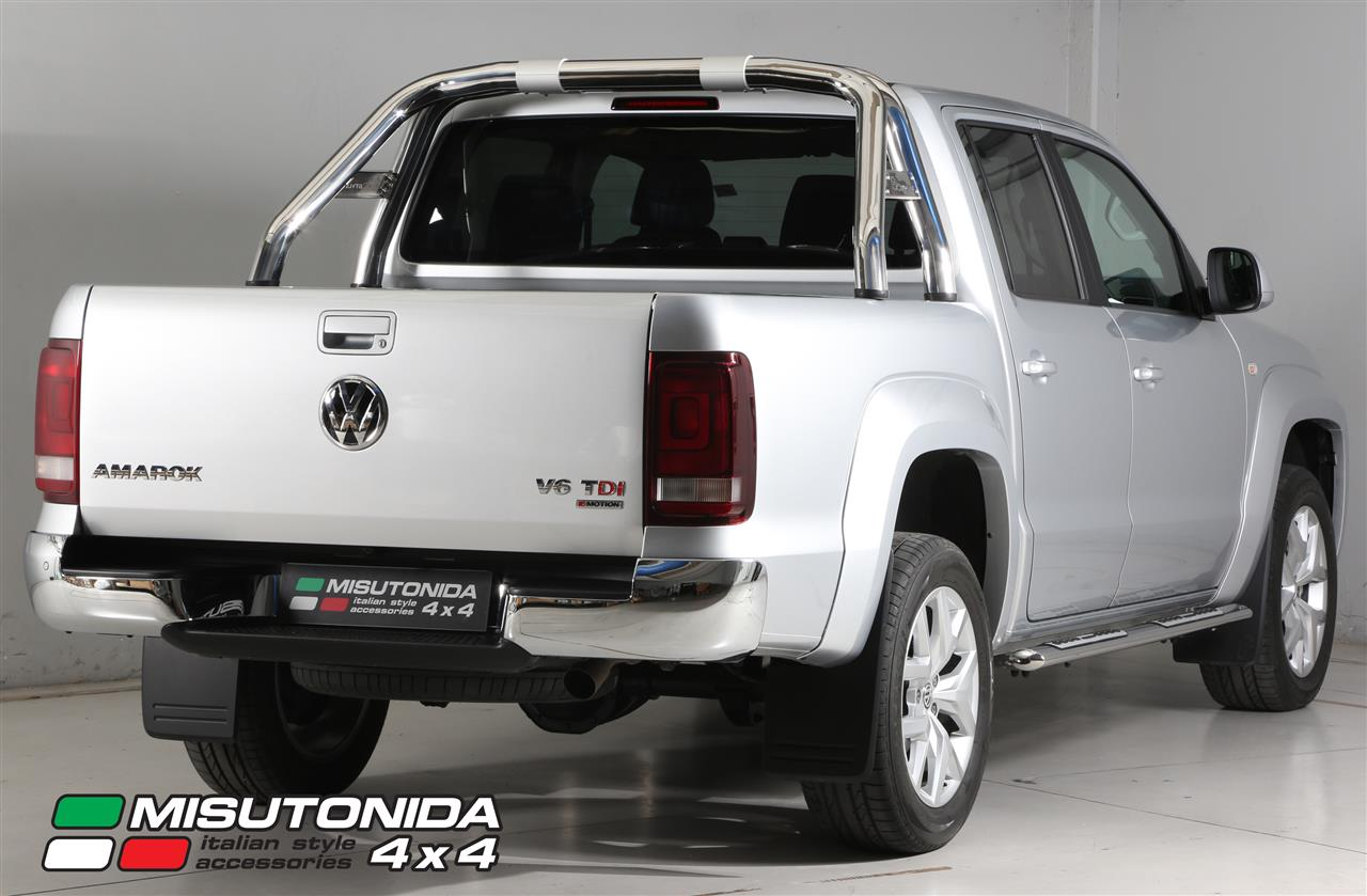 r400 roll bar inox double tube inox new style 76 vw amarok volkswagen amarok. Black Bedroom Furniture Sets. Home Design Ideas
