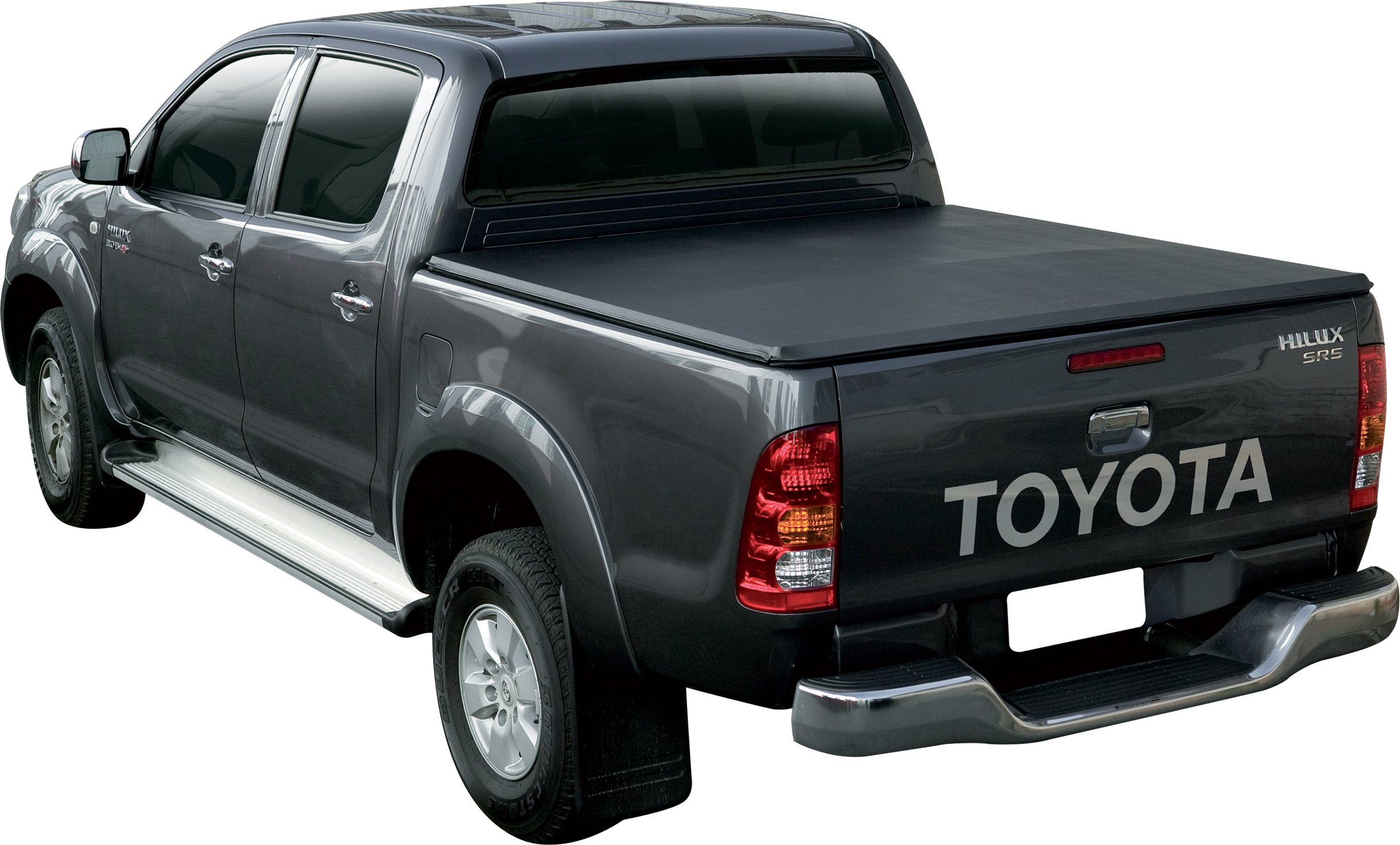sftc0005 bache plate noire toyota vigo double cabine 2005 2015 toyota hilux. Black Bedroom Furniture Sets. Home Design Ideas