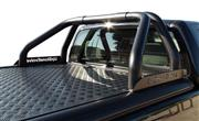 ROLL BAR INOX NOIR UPSTONE DOUBLE TUBE Ø 76 MITSUBISHI L200 DOUBLE CAB -2015